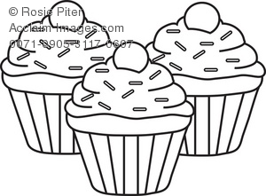 300x221 Cute Cupcake Clipart Black And White