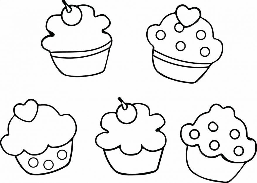 878x626 Cute Cupcake Colouring Sheets Cupcakes Coloring Pages Home Learn