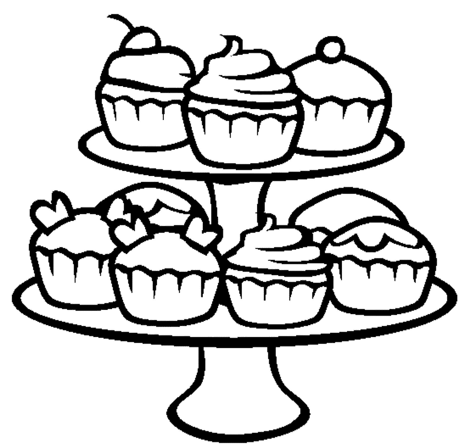 Cute Cupcakes Drawing at GetDrawings.com | Free for personal use ...