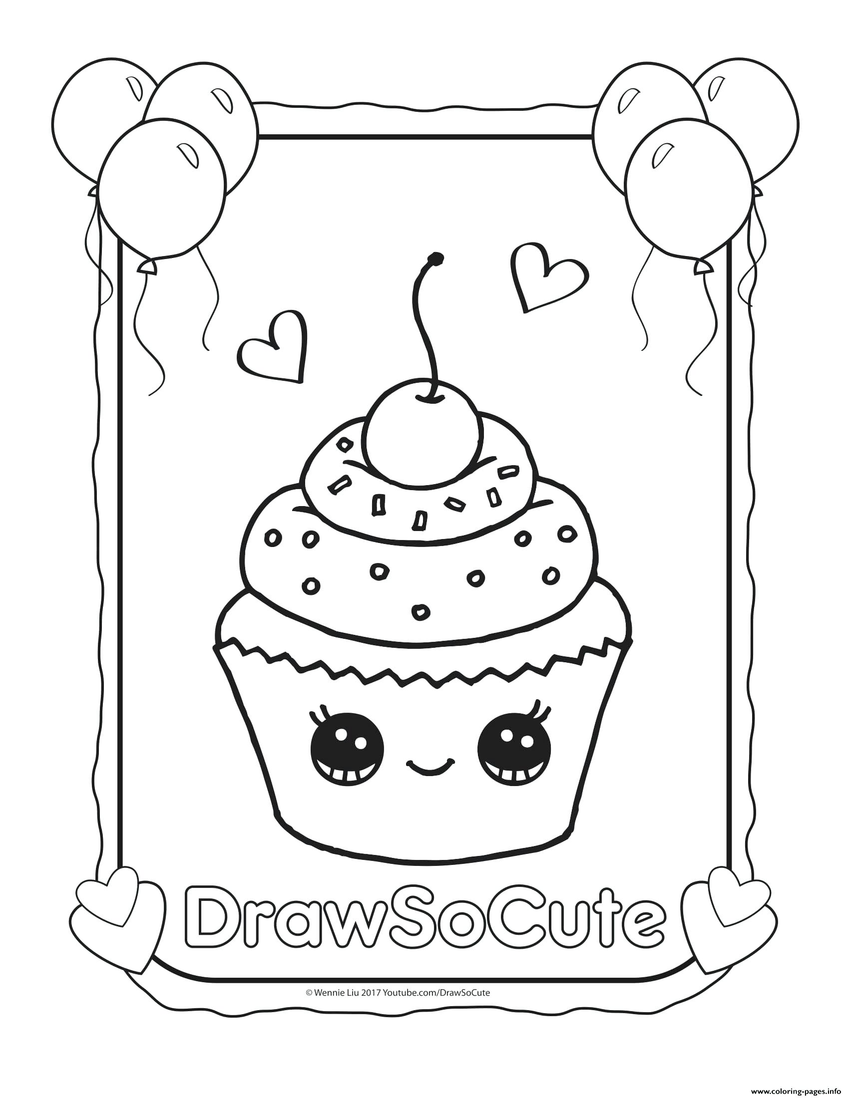 1700x2200 coloring Cupcake Coloring Pages Printable