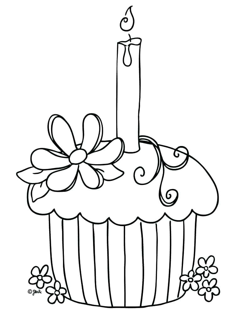 750x1000 Cupcake Coloring Page