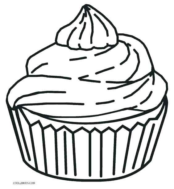 564x612 Coloring Pages Of Cupcakes For Cupcake Coloring Page Printable