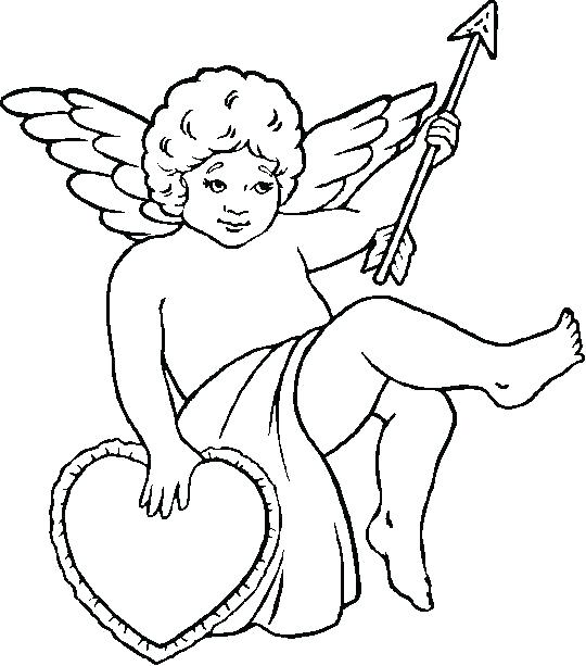 540x613 Cupid Coloring Page Epic Cupid Coloring Pages Kids Pictures Cute