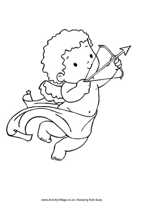 460x653 Cupid Colouring Page