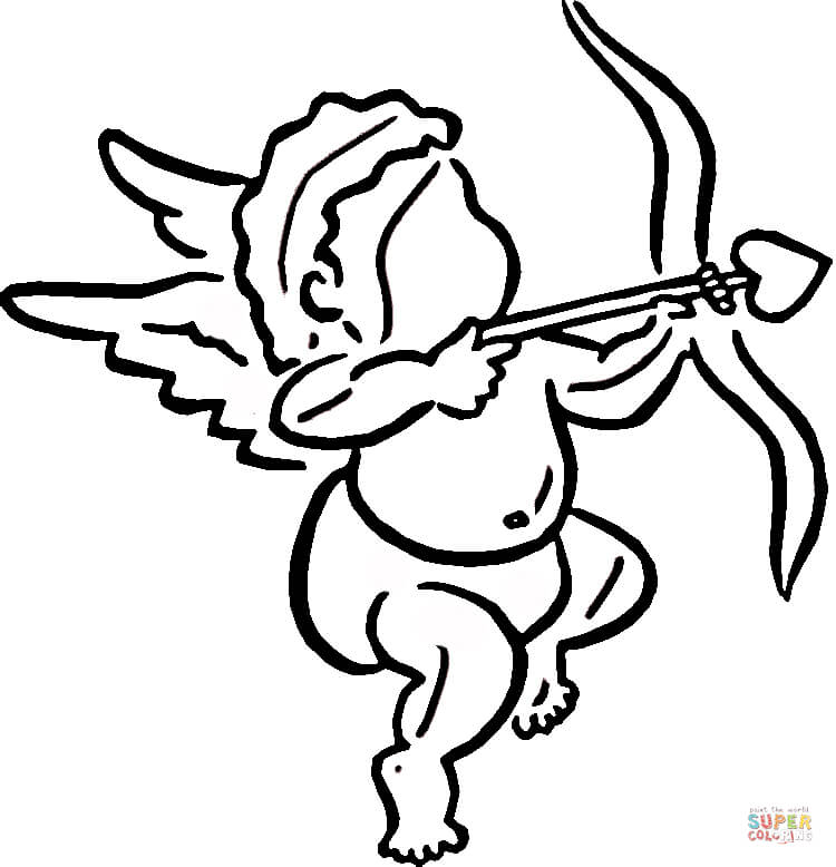 750x778 Cupid Makes Choice coloring page Free Printable Coloring Pages