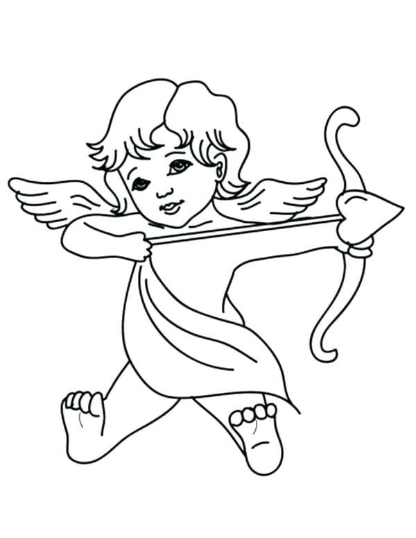 600x775 Epic Cupid Coloring Pages Kids Pictures Cute With Arrow Color