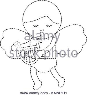 300x331 Funny Cupid isolated. Symbol of love. Cute little Amur with bow