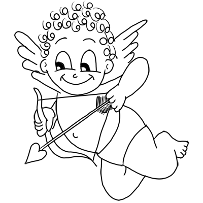 400x400 How to Draw Cupid with Step by Step Drawing Tutorial for