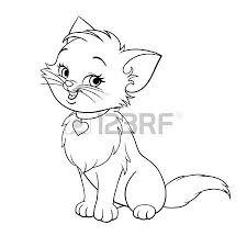 225x225 Image result for cute kitten sketch Tattoo Pinterest