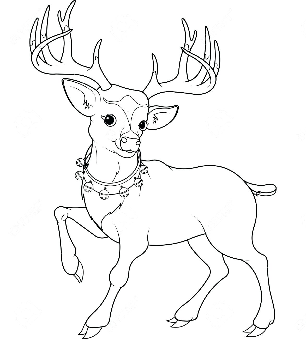 1173x1300 Coloring Cute Reindeer Coloring Pages