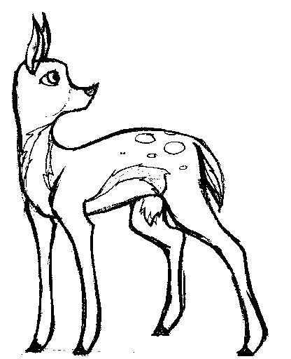 416x512 Cute Baby Deer By Songbreez