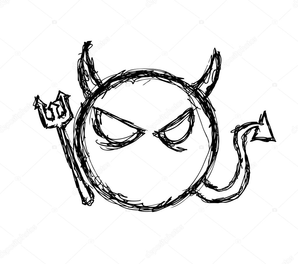 1023x907 Cute devil symbol — Stock Vector © mhatzapa