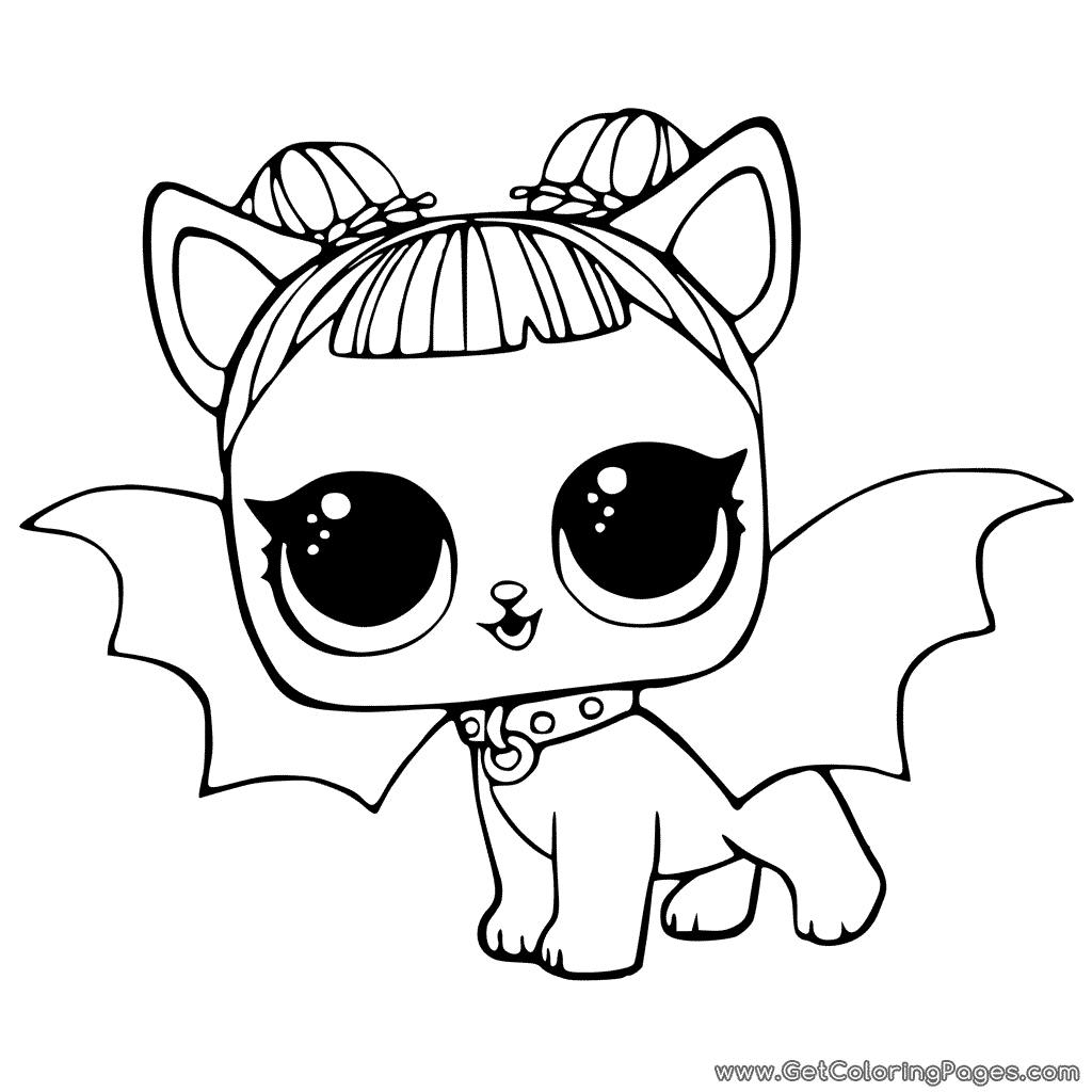1024x1024 LOL Pets Coloring Pages Cute Midnight Pup with Devil Wings