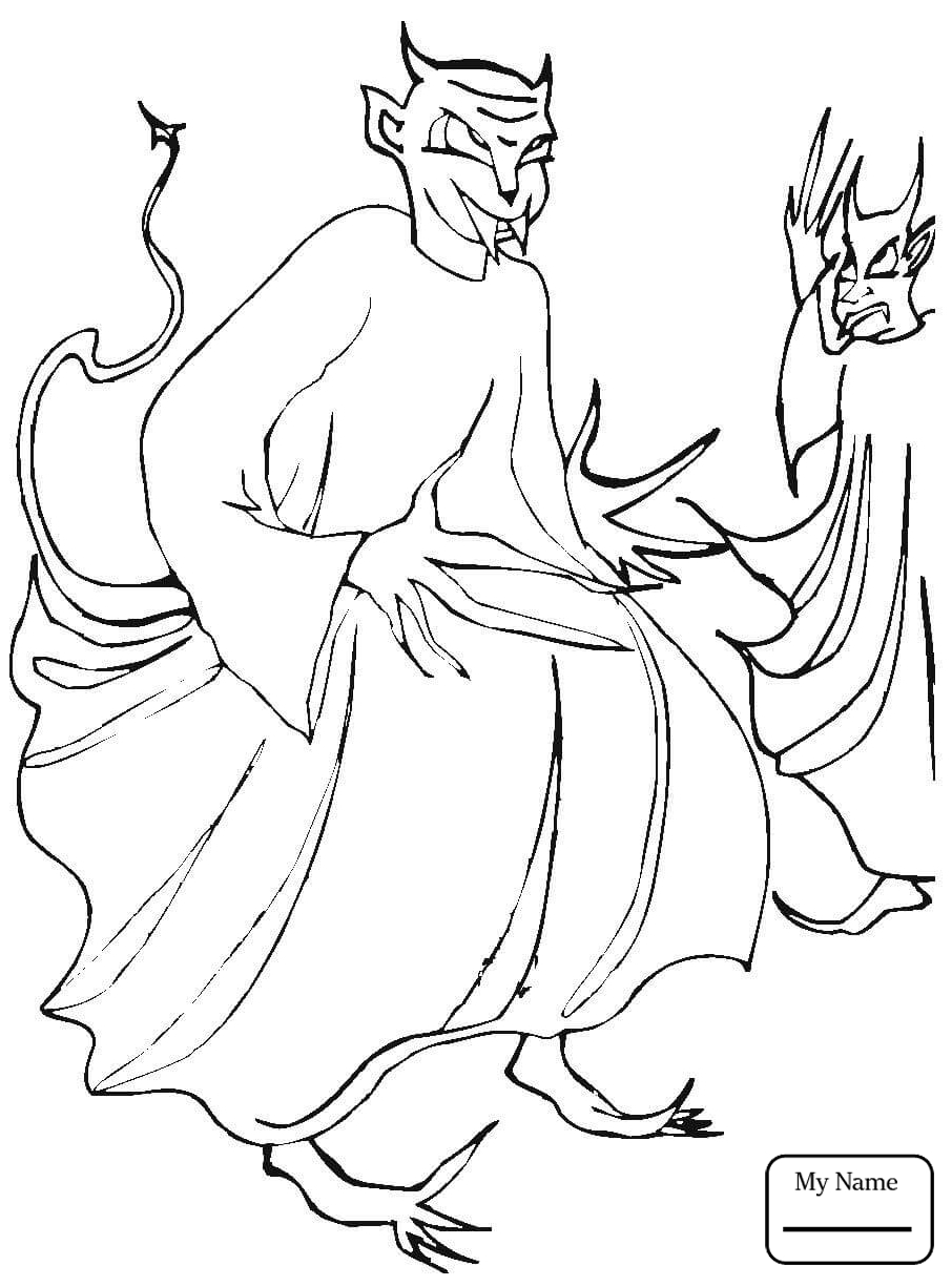 906x1224 coloring pages for kids fantasy mythology demons devils Cute Devil