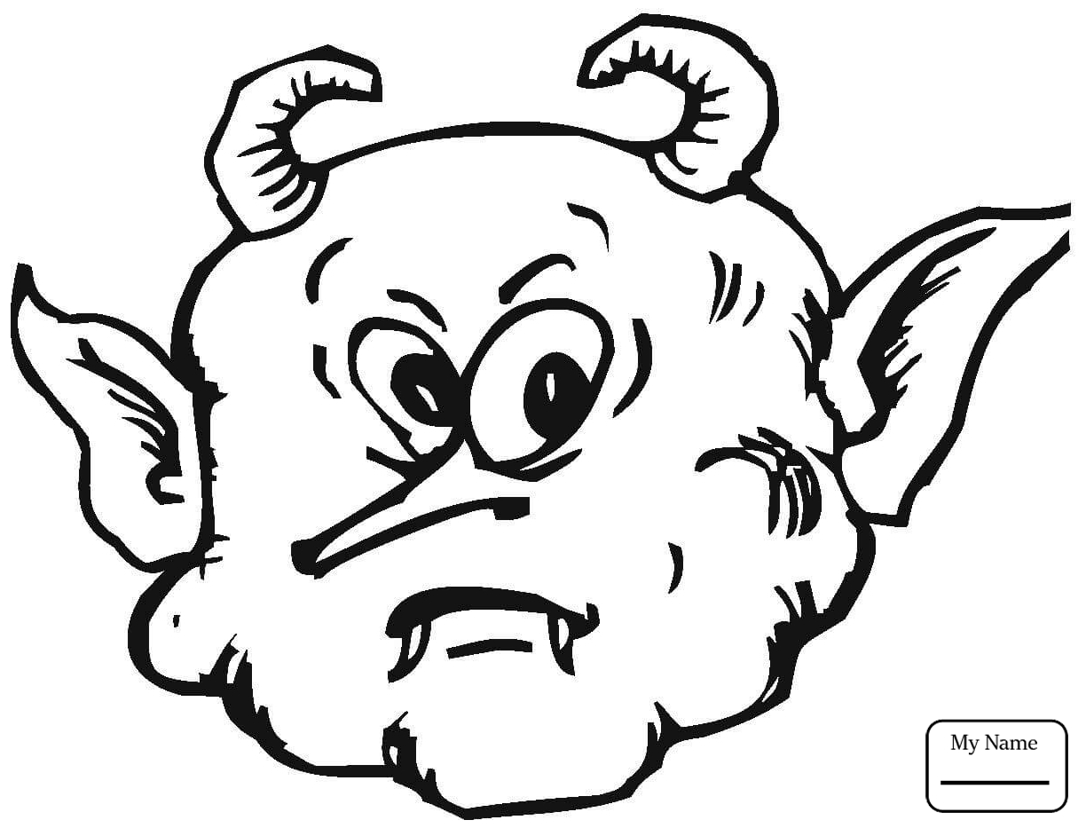 1224x933 coloring pages for kids fantasy mythology demons devils Cute Evil