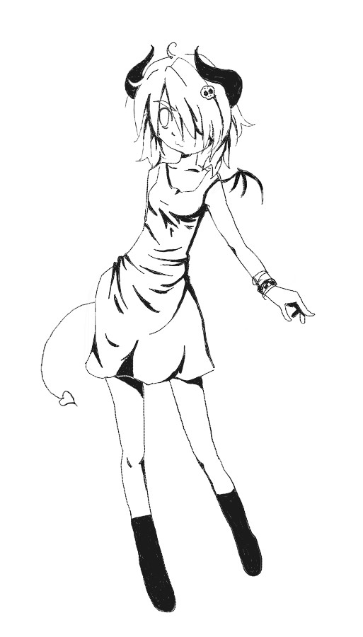 513x900 cute littel devil girl by Jump Button on DeviantArt