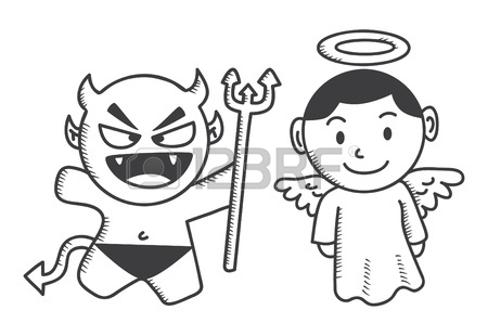 450x310 Cute Devil Boy Royalty Free Cliparts, Vectors, And Stock