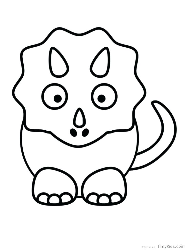 767x1024 Awesome Cute Dinosaur Coloring Pages New For Kids Cartoon