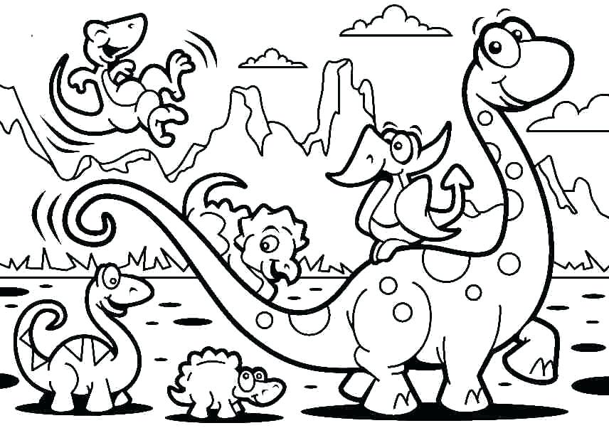 856x602 Printable Dinosaur Coloring Pages Coloring Pages Of Dinosaurs