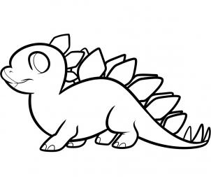 302x253 Cute Stegosaurus Coloring Pages How To Draw A Stegosaurus