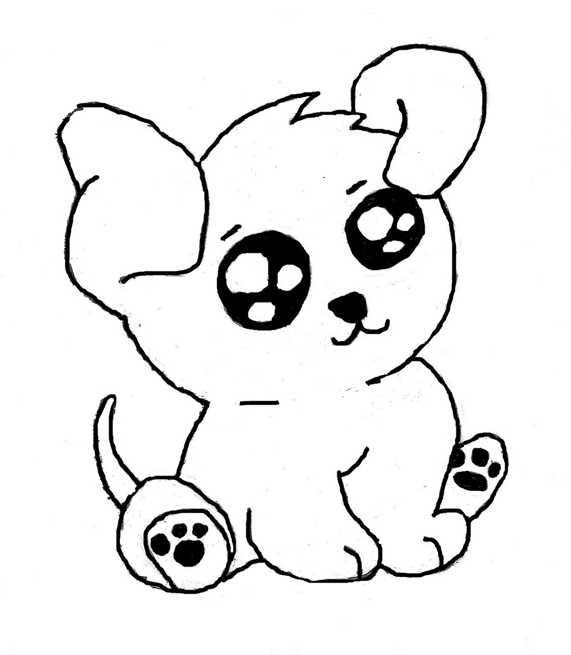1136x1303 A Cute Cartoon Puppy Drawing