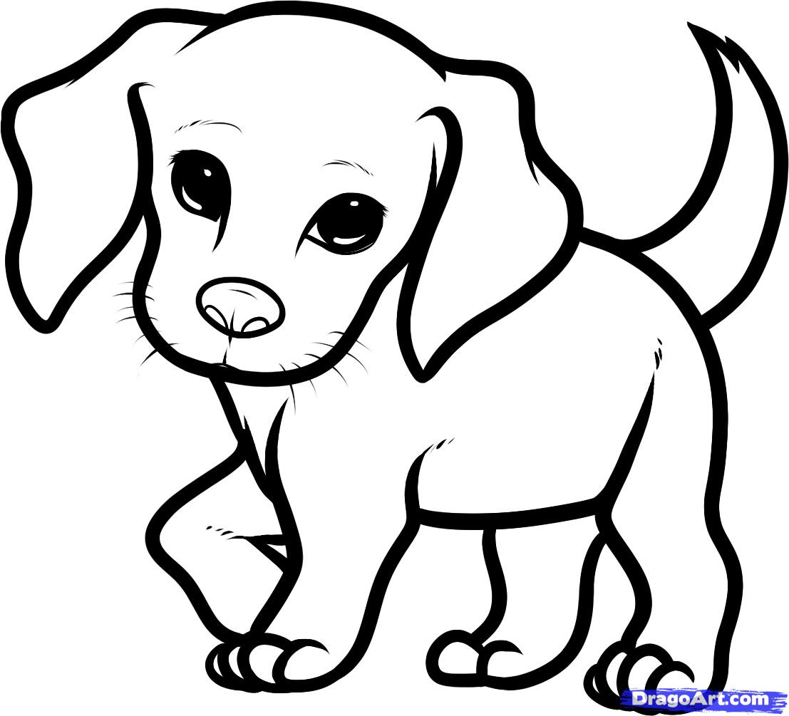 1107x1005 How You Draw A Cute Dog How To Draw A Beagle Puppy, Beagle Puppy