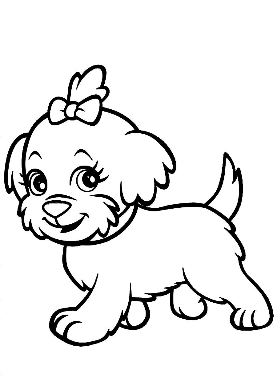 Cute Dog Cartoon Drawing