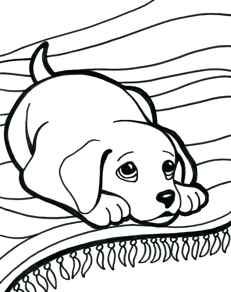 736x931 Cartoon Dog Coloring Pages Cute Dog Coloring Pages Dog Coloring
