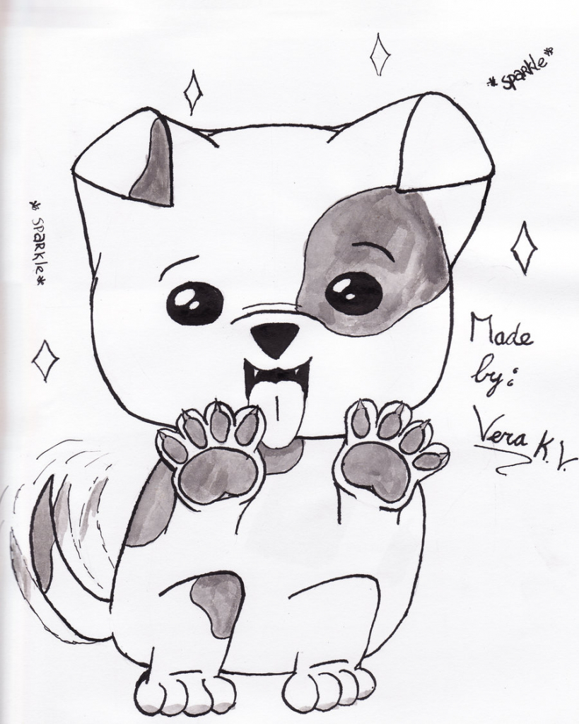 Cute Dog Drawing Easy At Getdrawingscom Free For Personal Use