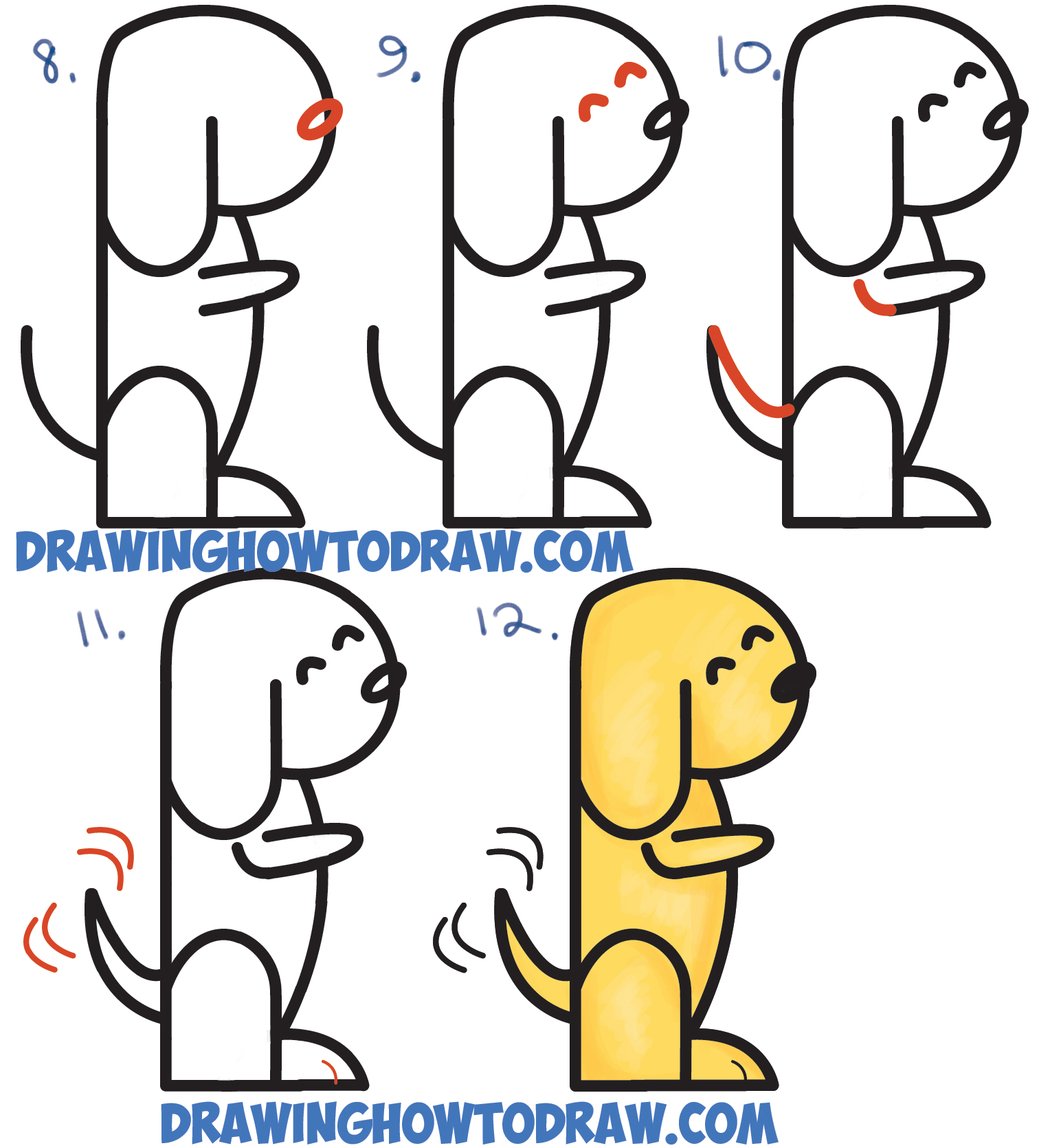 Cute Dog Drawing Easy at GetDrawings com | Free for personal