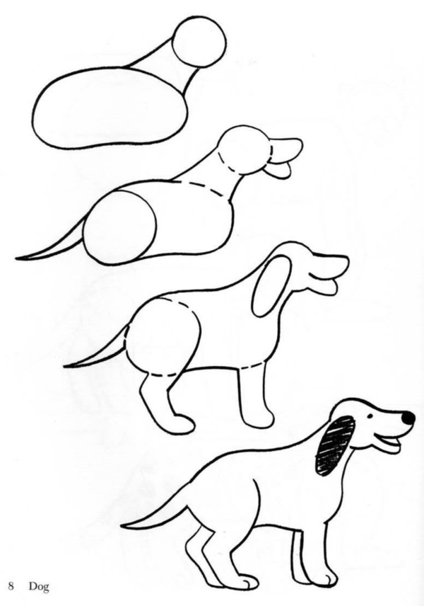 Cute Dog Drawing Step By Step