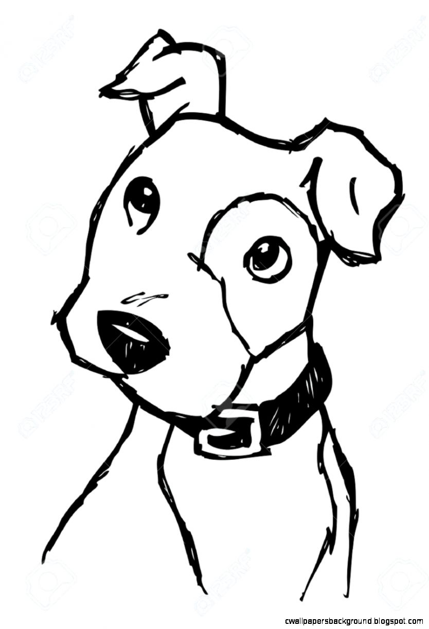 834x1222 Cute Dog Face Drawing Wallpapers Background