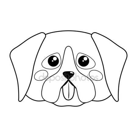 450x450 Cute Dog Face Vector Illustration Stock Vector Exit.near.gmail