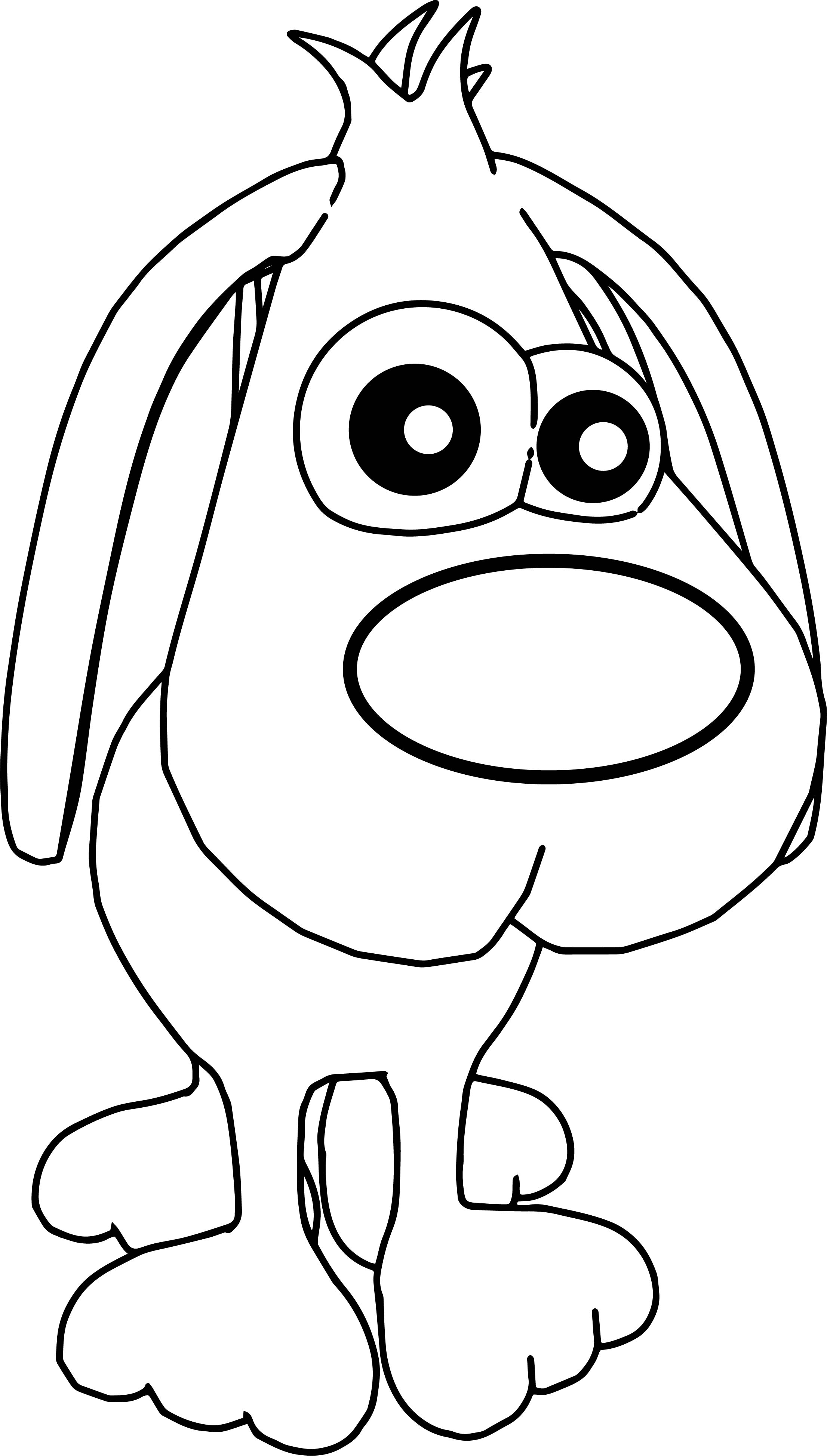 2212x3896 Dog Cute Cartoon Front Face Coloring Pagesheet Free Print