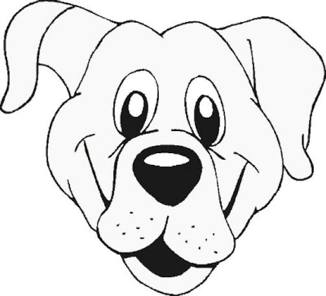 640x580 Dog Face Coloring Pages