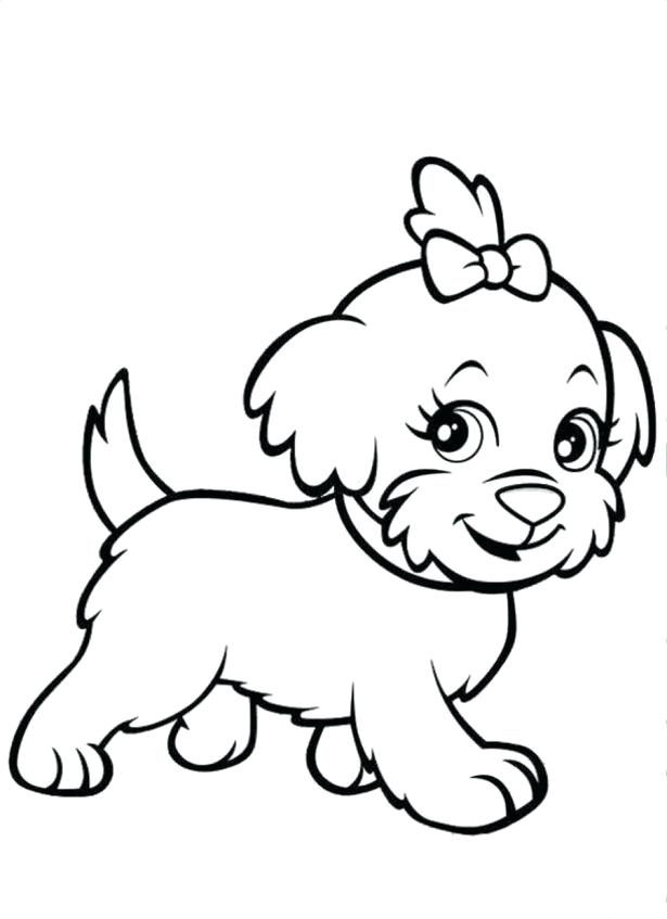 615x847 Puppy Dog Coloring Page Cute Dogs Coloring Pages Set Of Cartoon