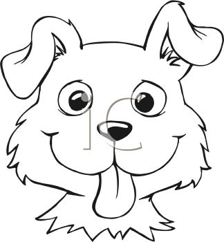 324x350 Simple Dog Face Clipart
