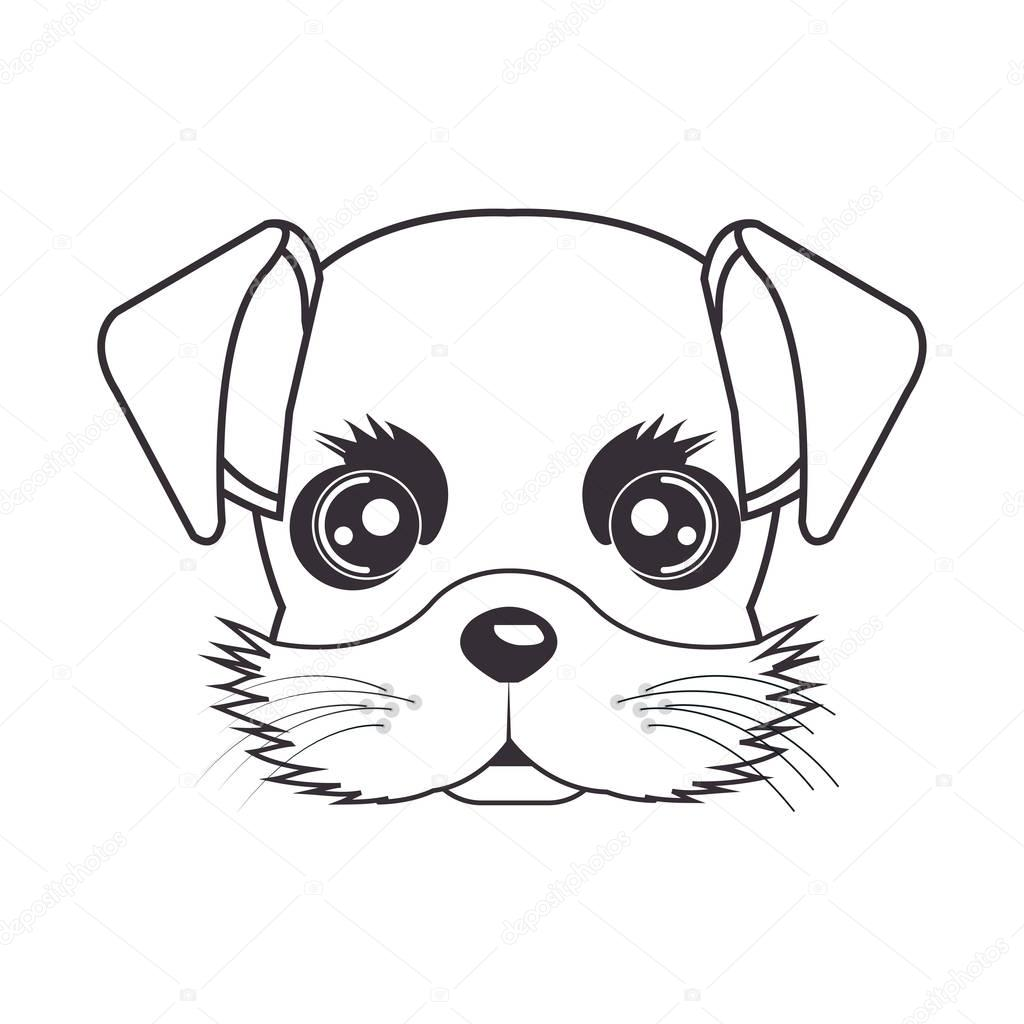 1024x1024 Hand Drawing Cute Face Puppy Stock Vector Yupiramos