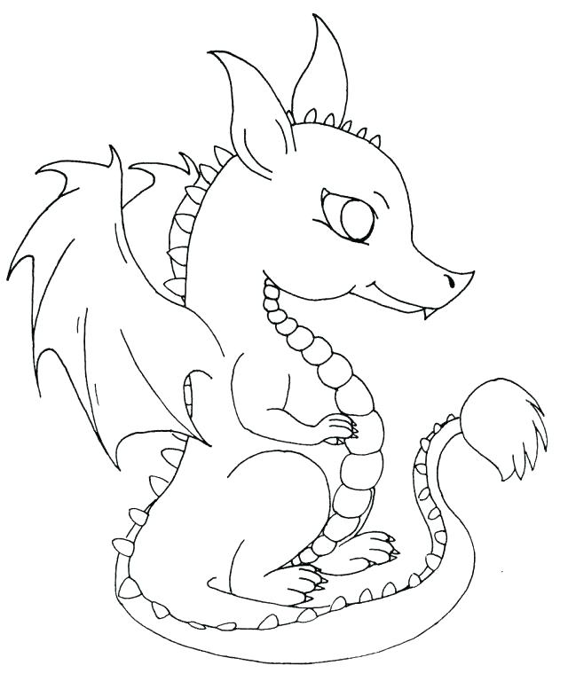 640x777 Cute Baby Dragon Coloring Pages Wonderful Baby Dragon Coloring