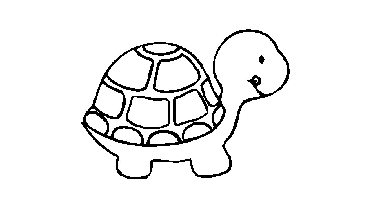 1280x720 Cute Drawings Of Turtles How To Draw A Cute Turtle