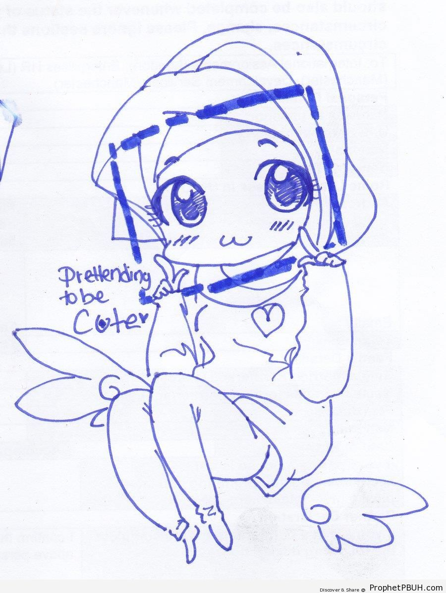 900x1197 Cute Little Girl Drawing – Drawings Prophet PBUH (Peace Be Upon Him)