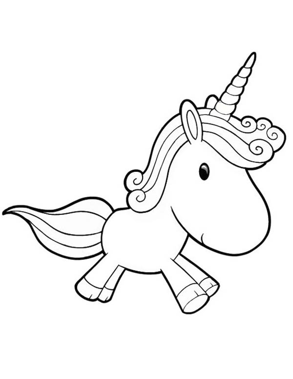 600x776 Cute Unicorn Coloring Pages For Girls In Fancy Draw Print
