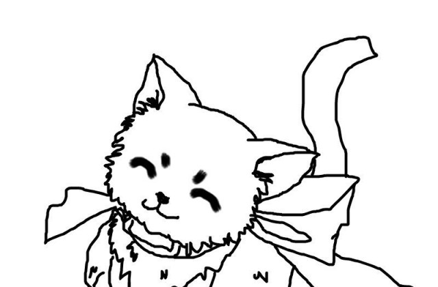 640x420 Tag For Cute drawing of a cat How To Draw A Cute Cat Step By For