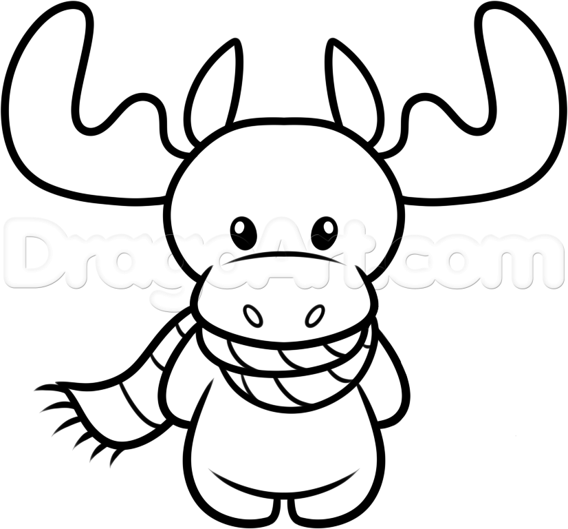 826x768 Cute And Easy Christmas Drawings – Fun for Christmas