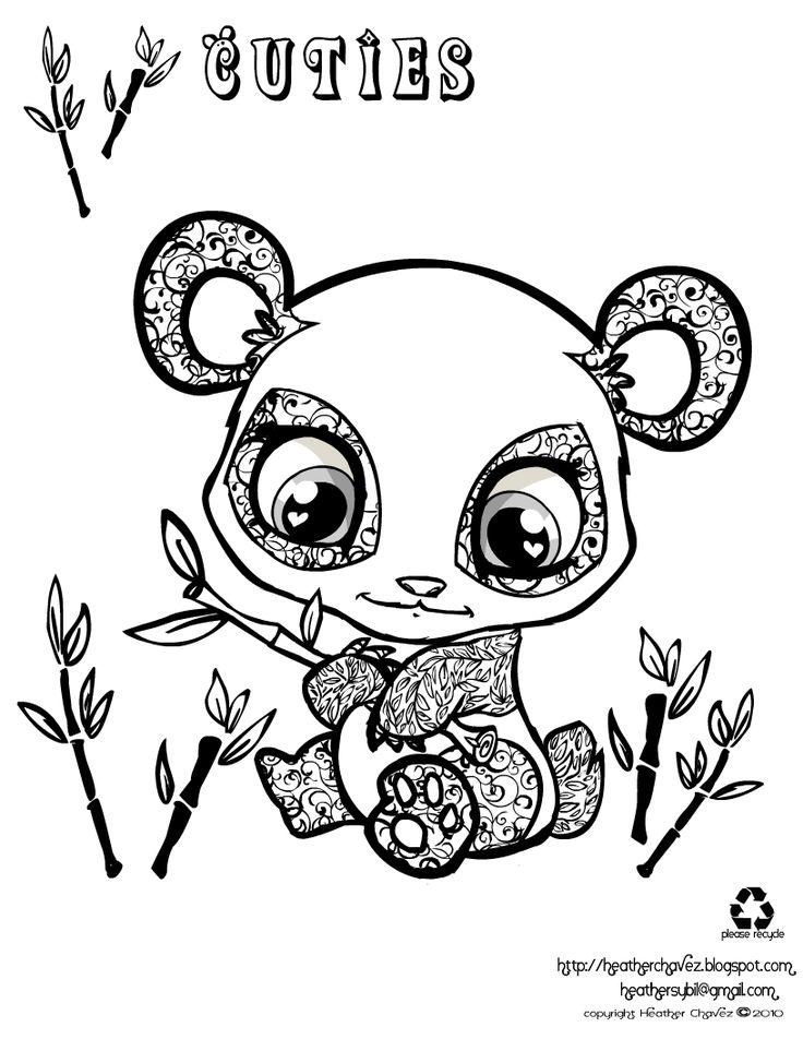736x952 Cute Panda Coloring Page Free Printable