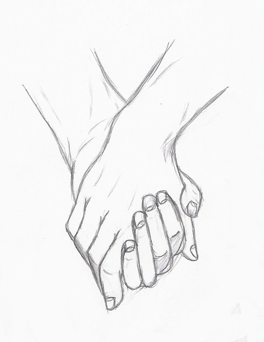 541x700 Gallery Cute Drawings Of Lovers Holding Hands,