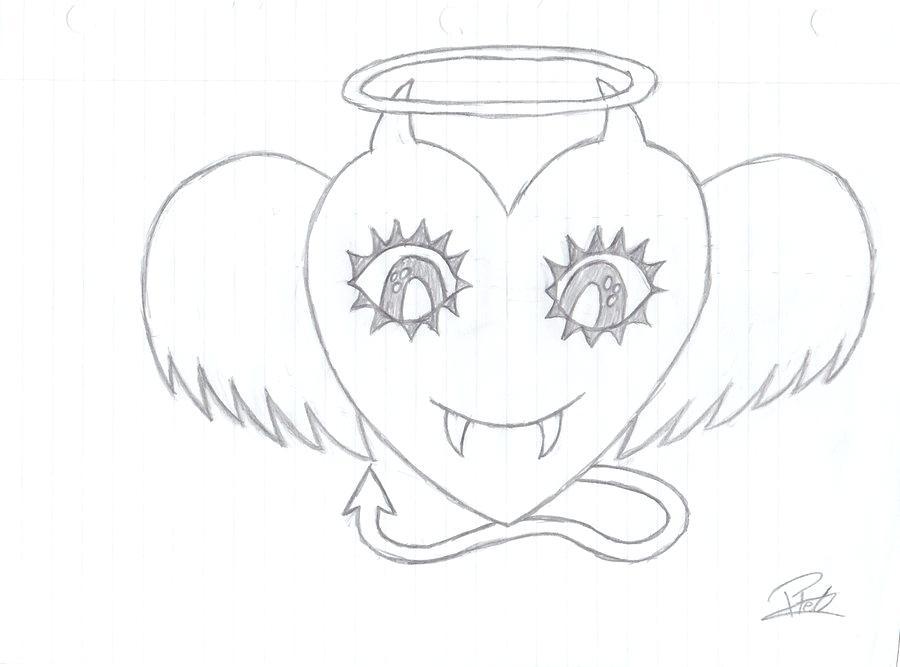 900x667 Pretty Heart Drawings Cute On Media