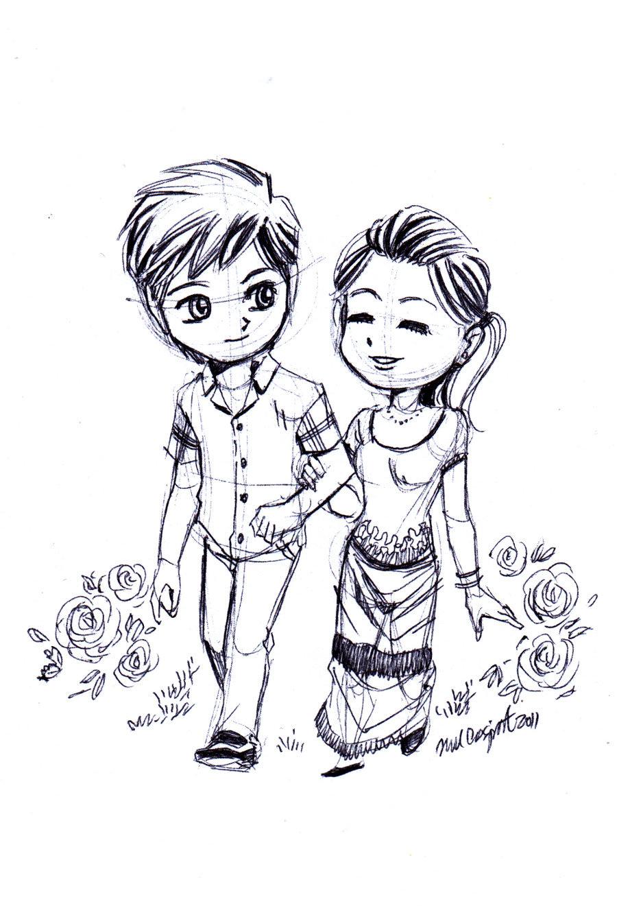 Cute Drawing Love