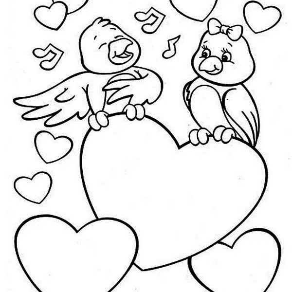 600x600 Cute Valentine Coloring Pages Coloring Pages