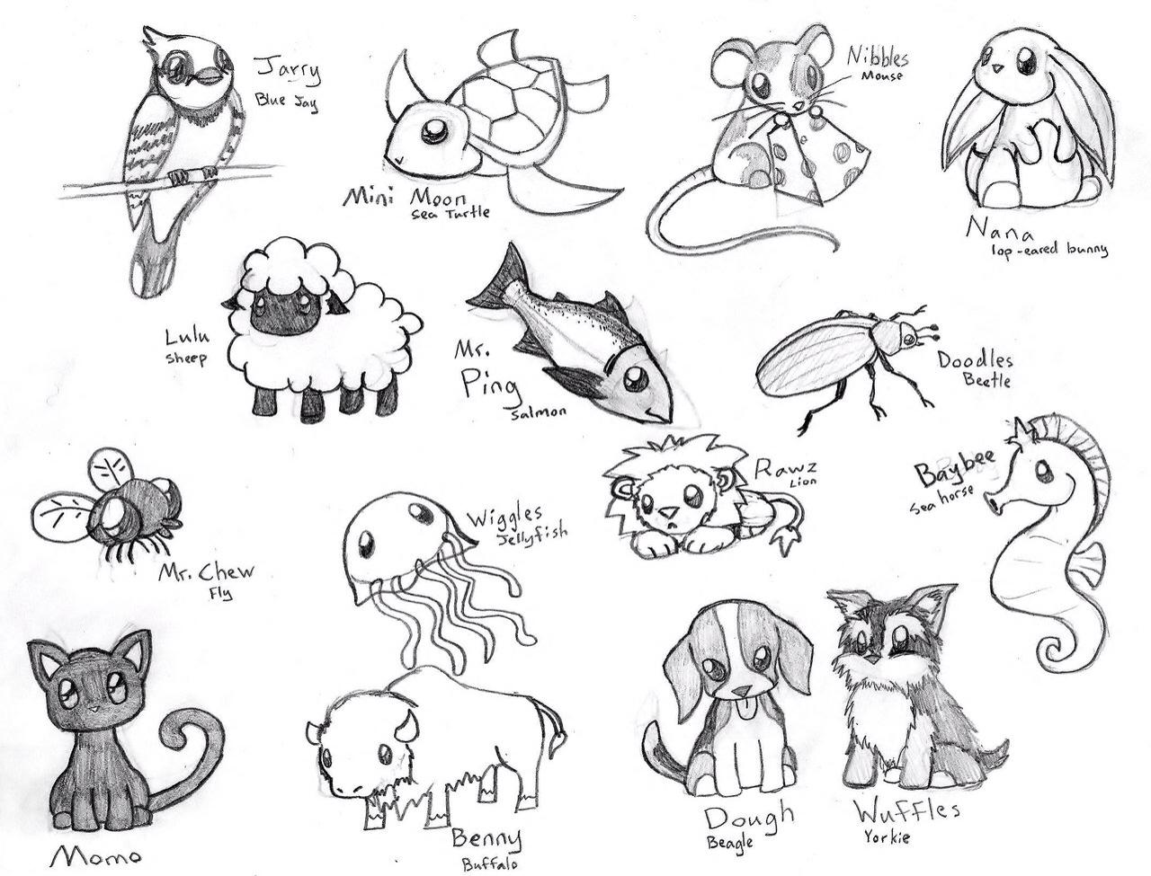 1280x975 Drawn Baby Animal Cute Animal Love